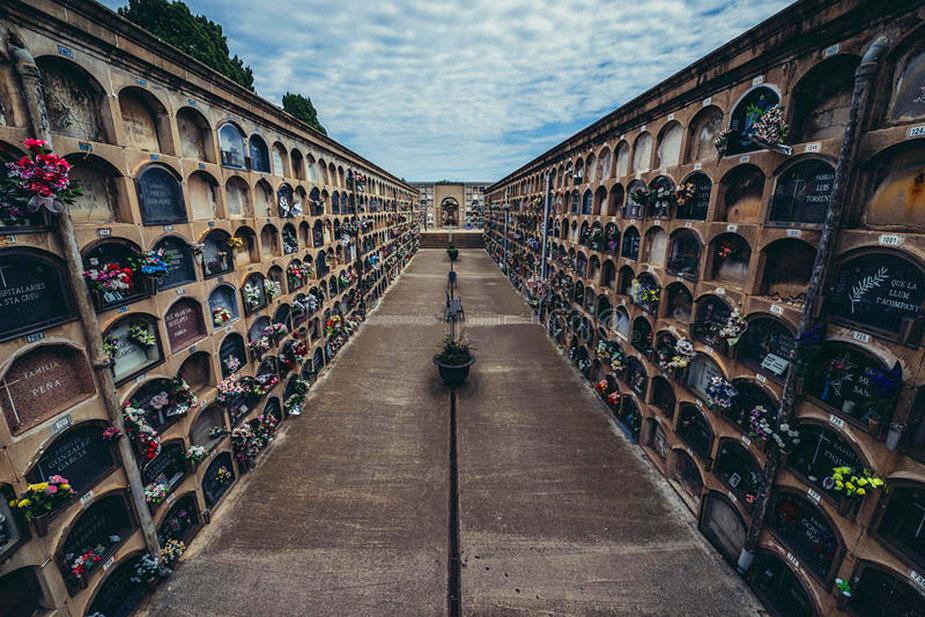 Cemetery in Barcelona