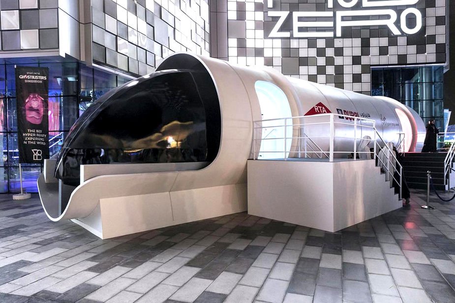 Прототип Hyperloop One Дубае
