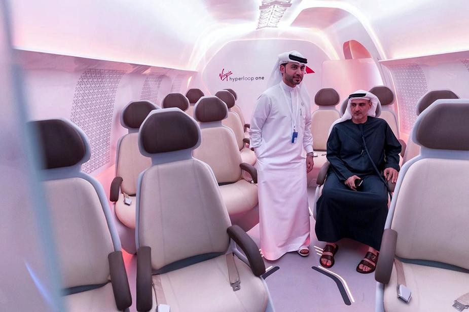 Презентация макета Hyperloop в Дубае