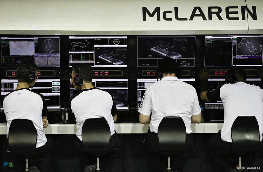 McLaren's pit wall