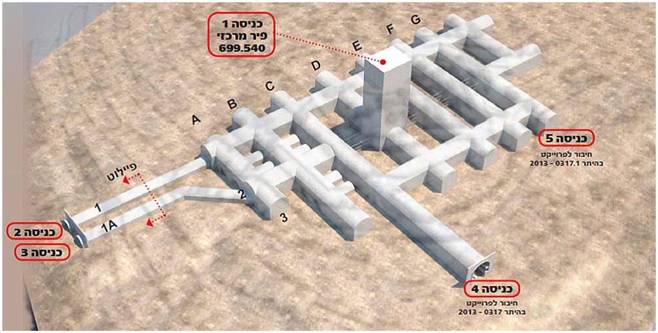 Схема подземного кладбища