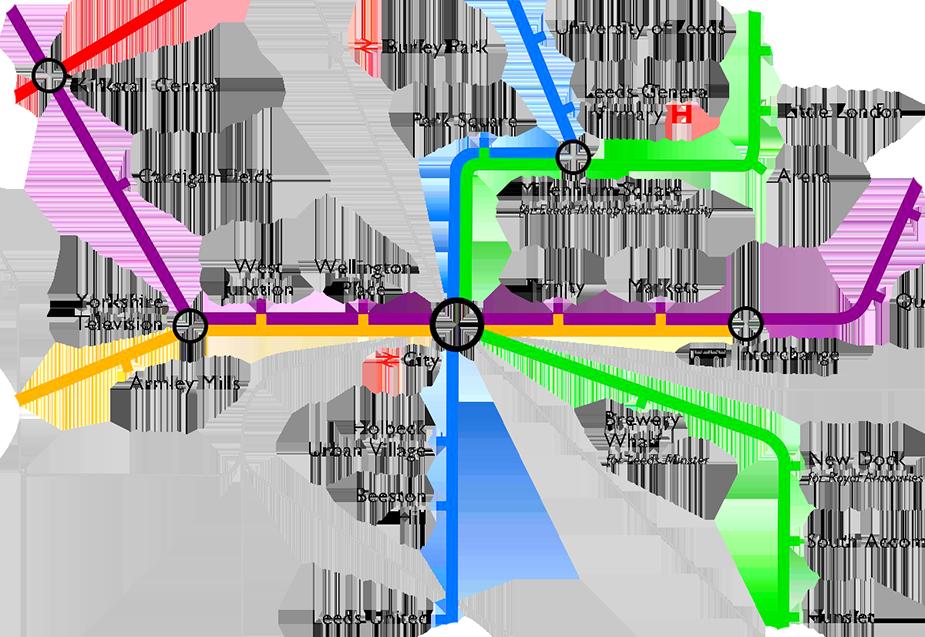Проект схемы метро Лидса