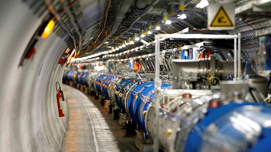The Tunnel of The Large Hadron Collider - CERN. Source: home.cern