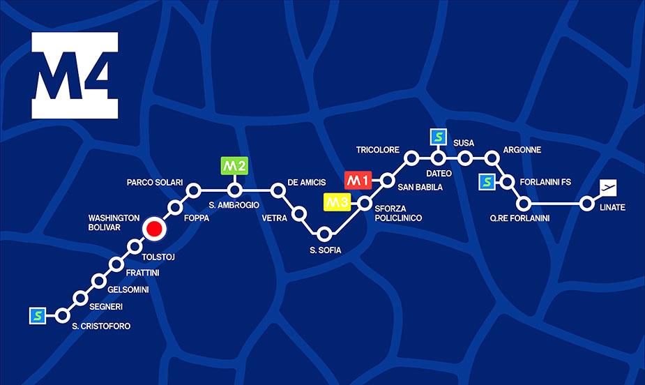 линия М4 миланского метро