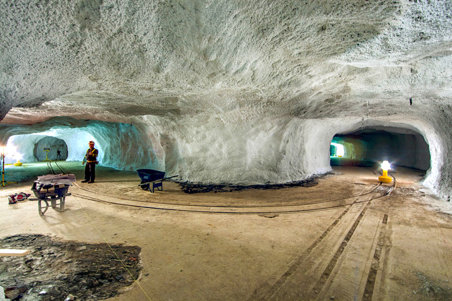 The construction of the Sanford underground research Center