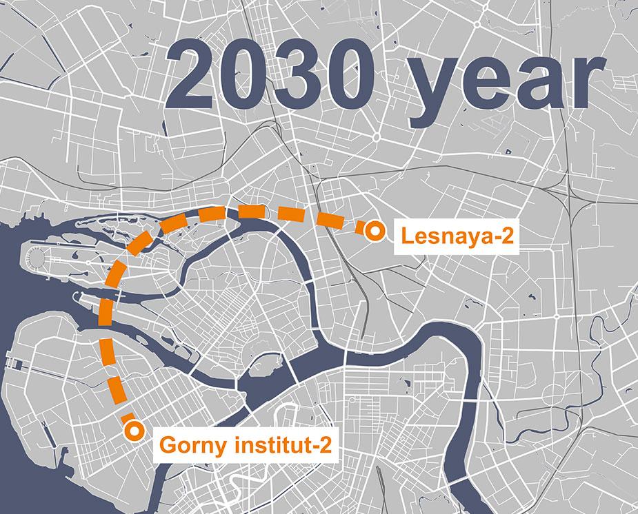 circle metro line St Petersburg