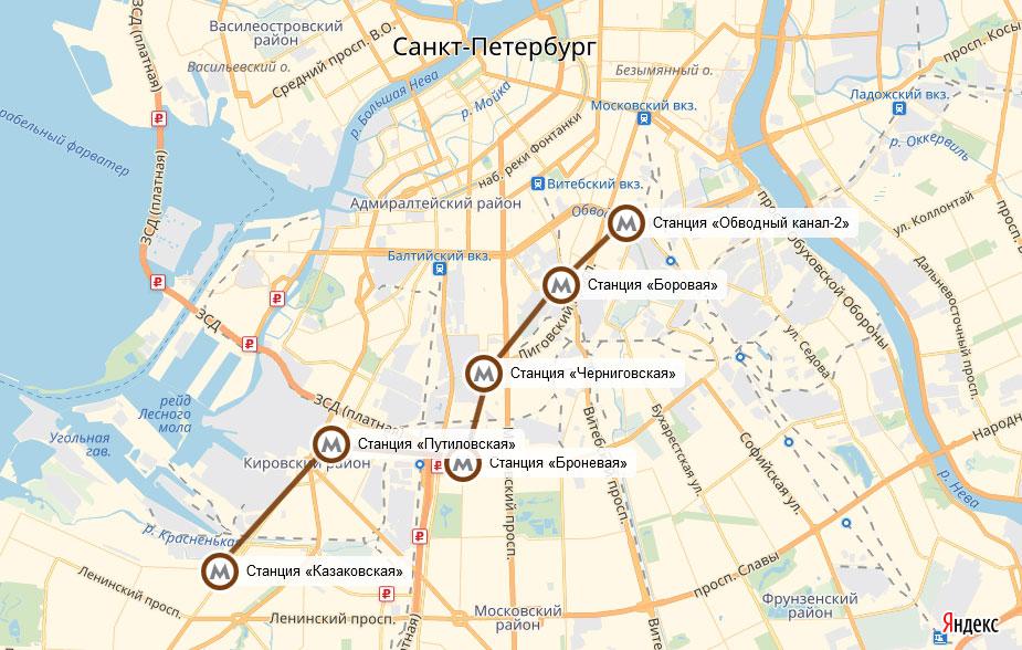 Красносельско-Калининской линия