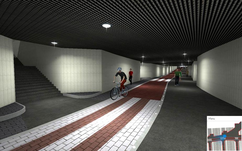 тоннель для велосипедистов в Хельсинки