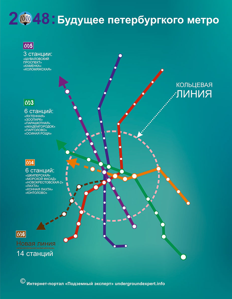развитие метро Петербурга