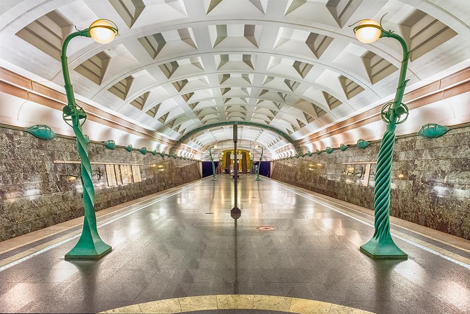metro station Slavyansky Bulvar in Moscow