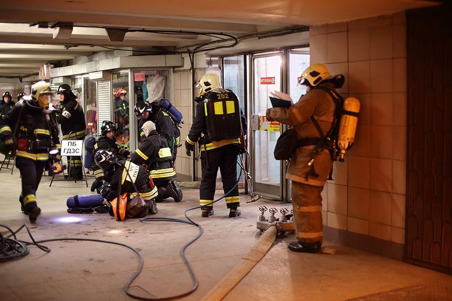 учения МЧС в метро