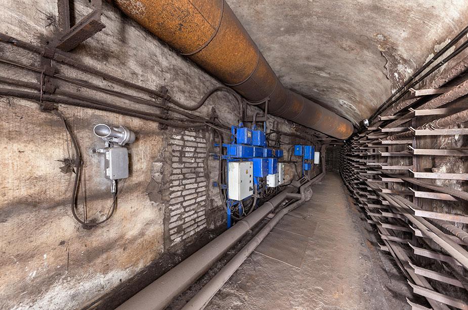 Технический тоннель метро Москвы