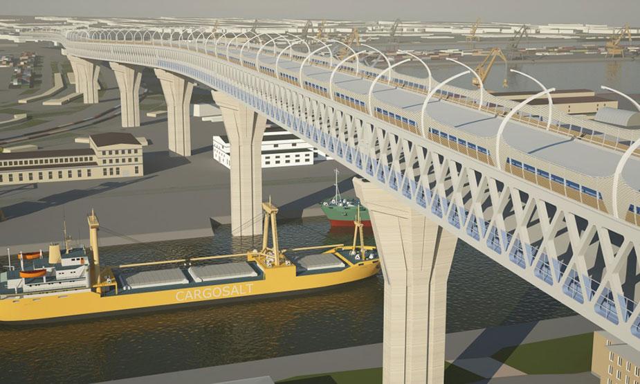 проект моста зсд над каноненрским островом