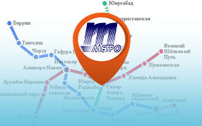Карта метро Ташкента