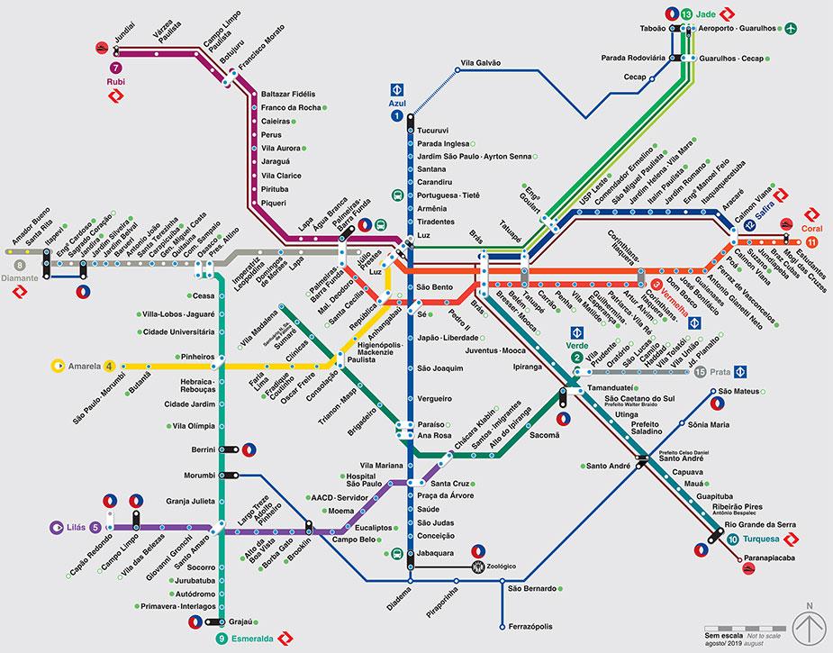 Схема метро Сан-Паулу