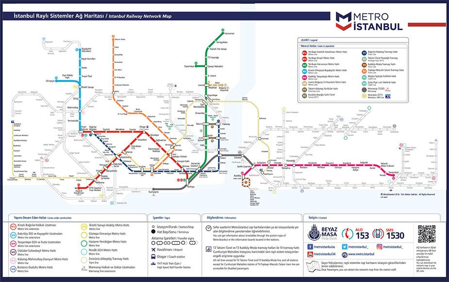 Схема метро Стамбула
