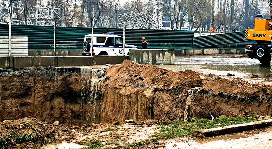 Ташкент обрушение грунта