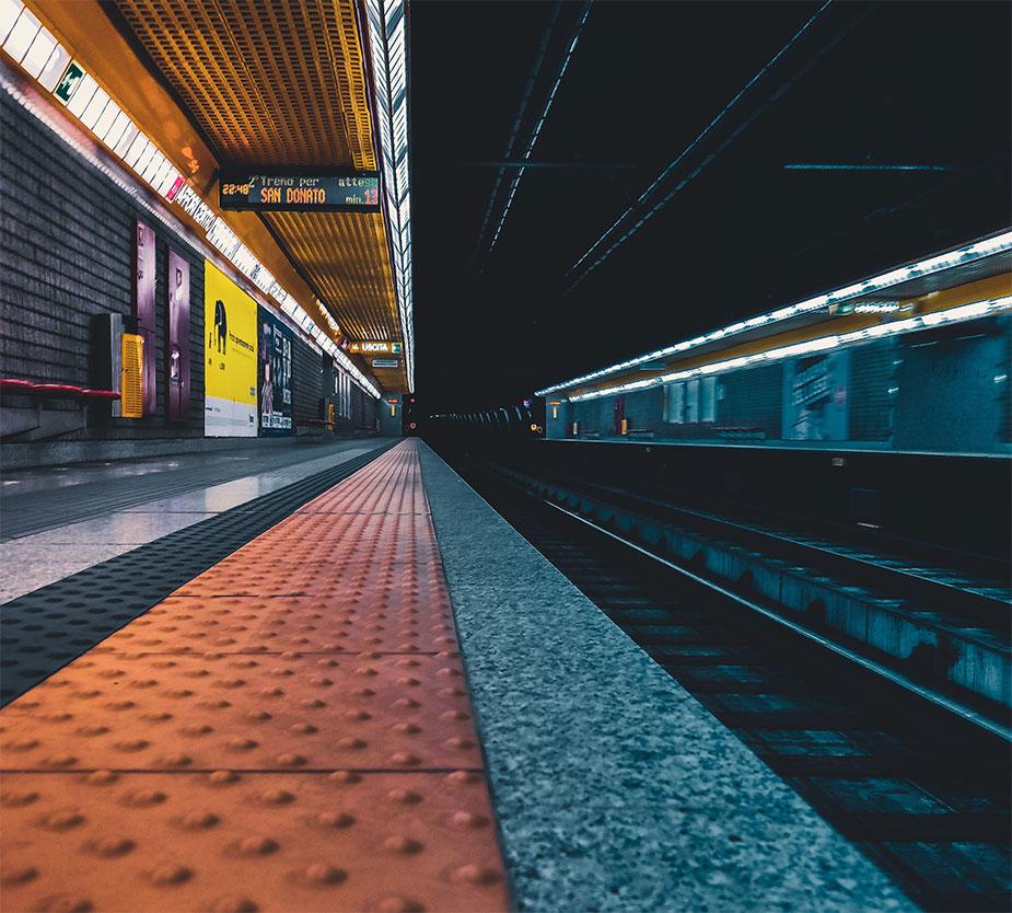 Milan metro station terminal