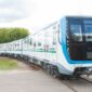 Trains for the subway system in the capital of Uzbekistan