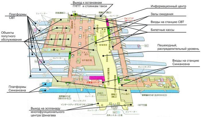 Планировочное решение ТПУ «Шинагава»