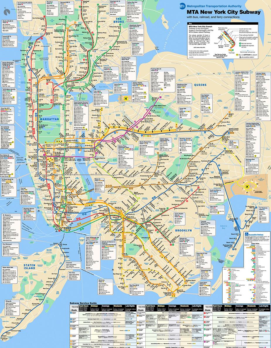 Карта метро Нью-Йорка