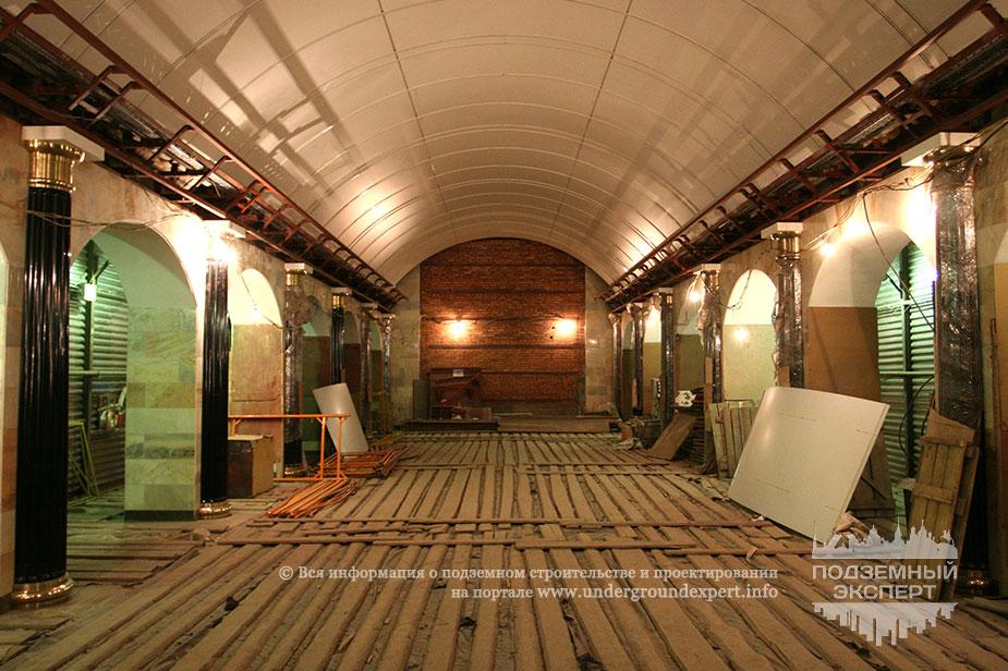 Фото станция Адмиралтейская - строительство