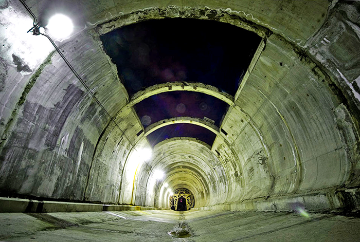 Готовый участок автодорожного тоннеля