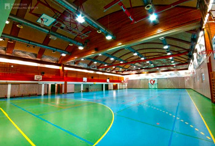 Спортивный зал Holmlia. Активно эксплуатируется с 1984 г.