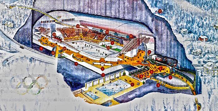Хоккейный стадион для Зимних олимпийских игр 1994 г.