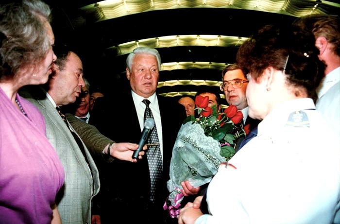 Ельцин в Новосибирском метро
