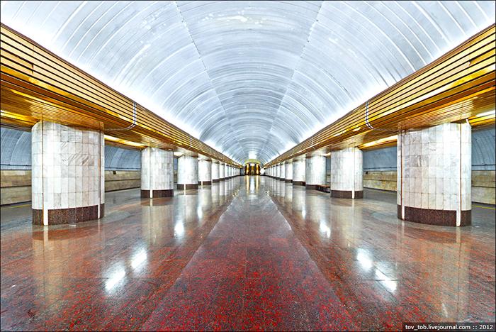 Станция метро Вокзальная в Днепре