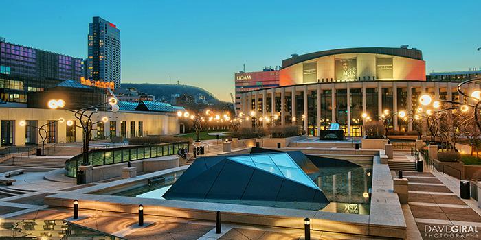 Площадь искусств в Монреале