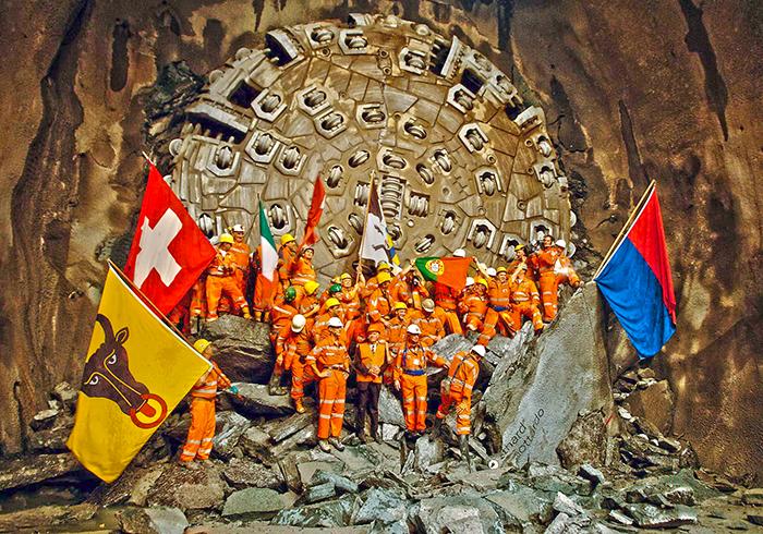 Завершение проходки готтардского тоннеля