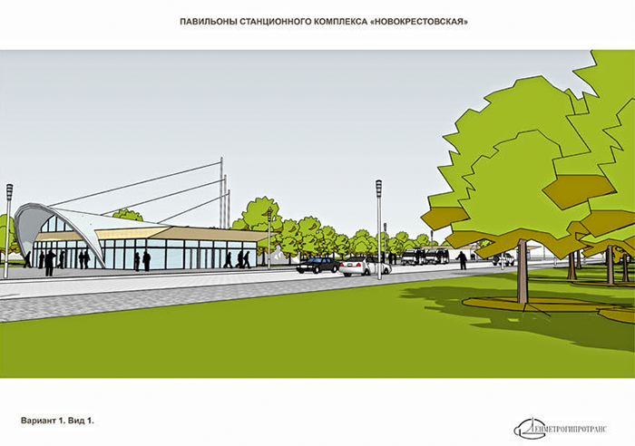 Павильон станции метро Новокрестовская