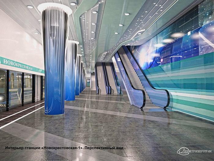 Проект станции метро Новокрестовская