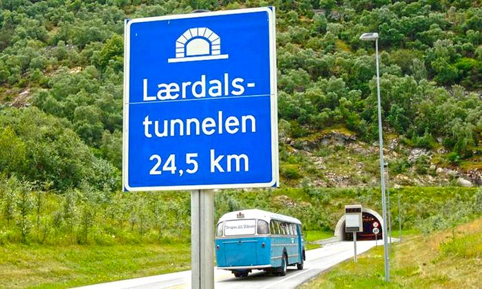 Въезд в Лердальский тоннель