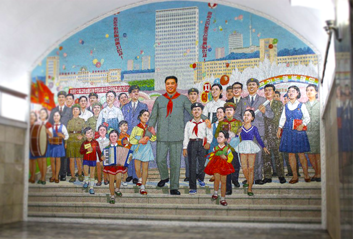 Панно в пхеньянском метро