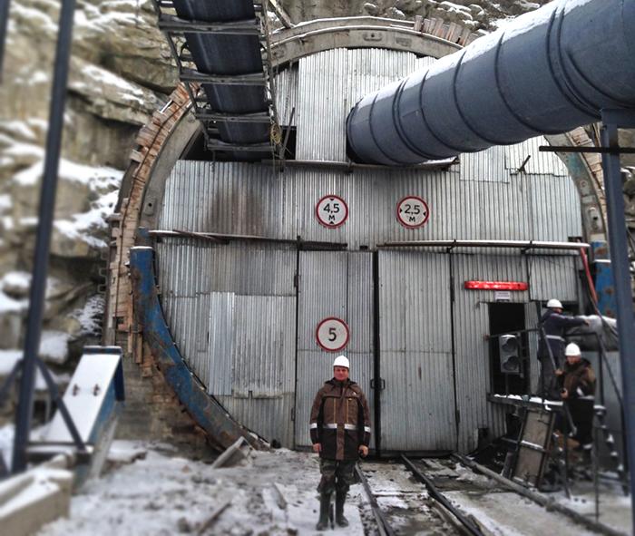 Врезка нового Байкальского тоннеля. Западный портал