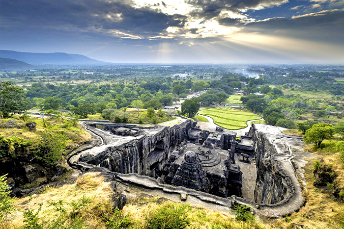 Храм Кайласанатха в пещерах Эллоры