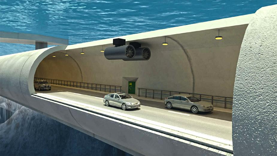 Плавающий тоннель в Норвегии