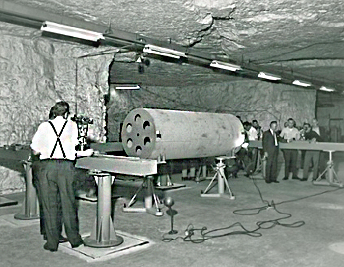 The Brunson Instrument Company's test room