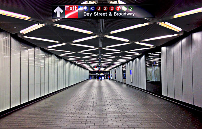 Подземный переход Фултон-центра