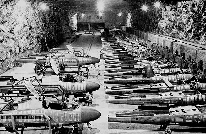 Подземный завод по производству самолетов Хейнкель-162