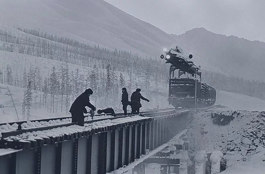 Construction of the Baikal-Amur Mainline.