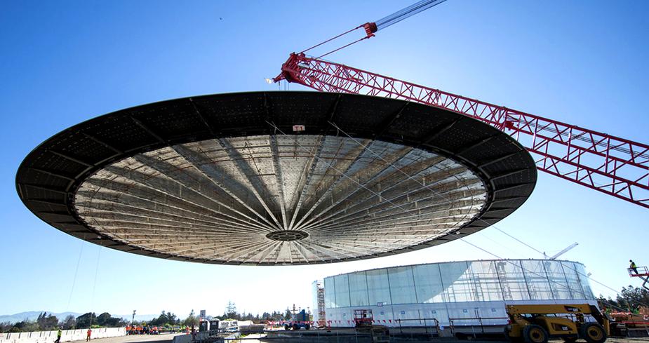 Театр Стива Джобса транспортировка крыши