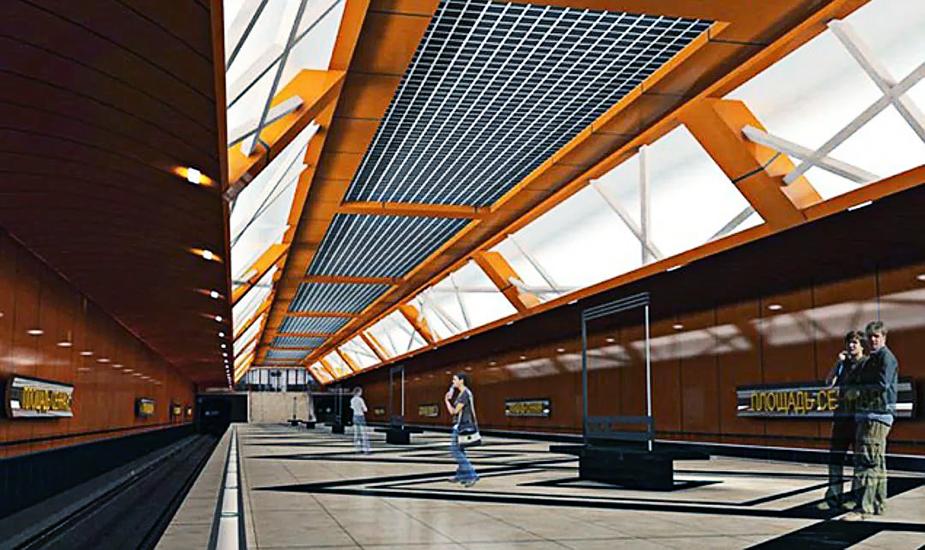 """Metro project in Nizhny Novgorod - metro station """"Sennaya Ploshchad"""""""