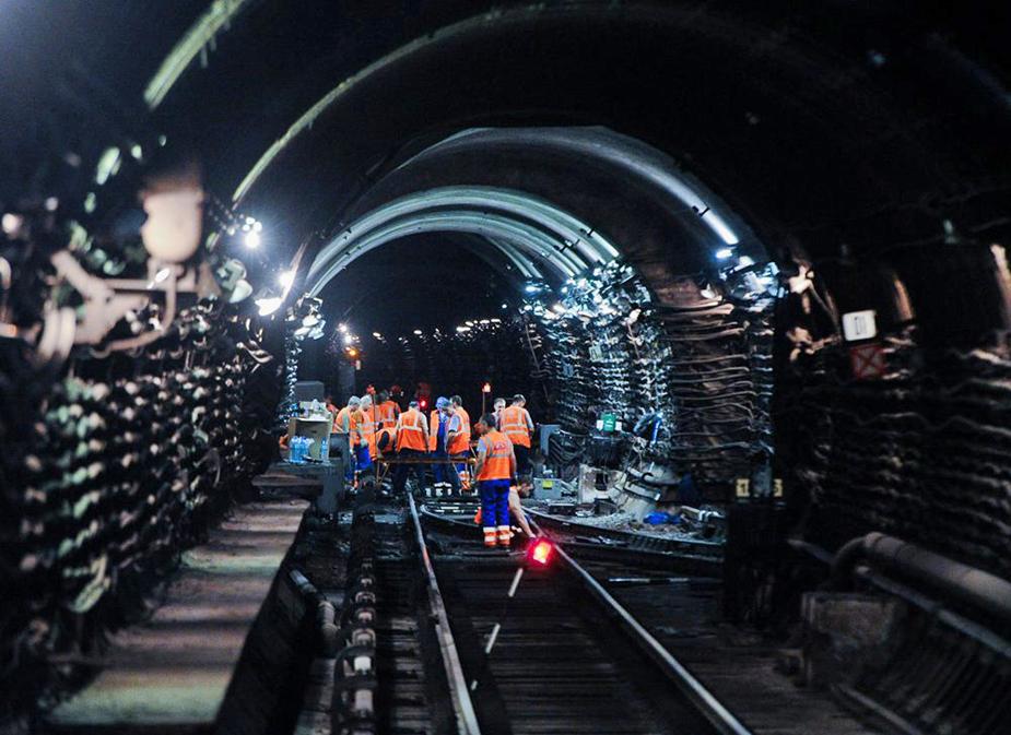 Тоннель до станции «Рассказовка» в Москве