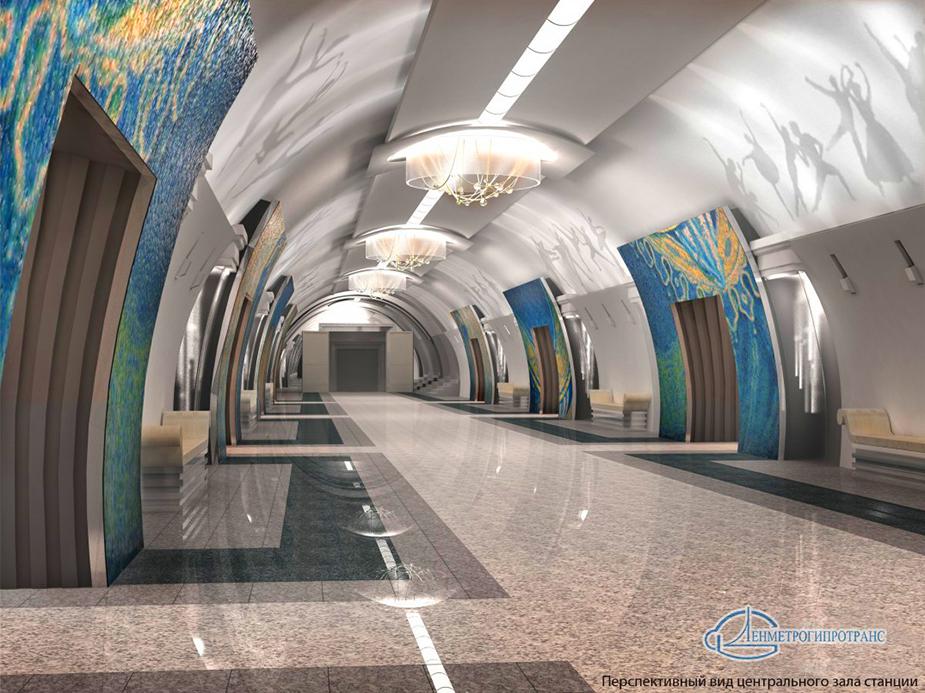 проект станции метро Театральная