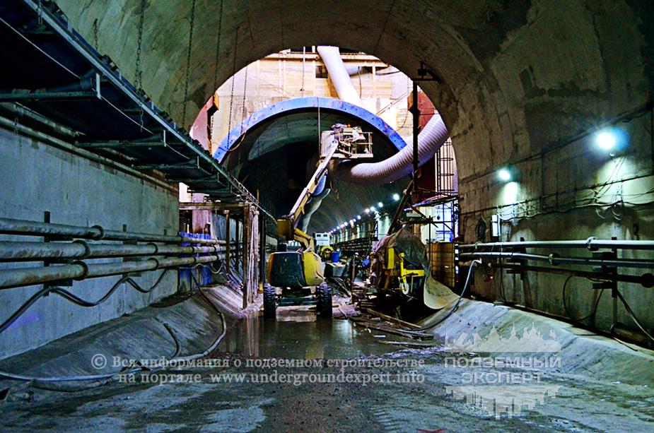Строительство метро «Беговая»