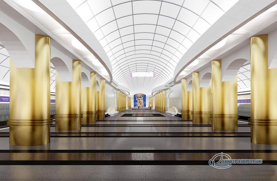 Станция метро Бухаресткая, открыта в Петербурге 28 декабря 2012 года